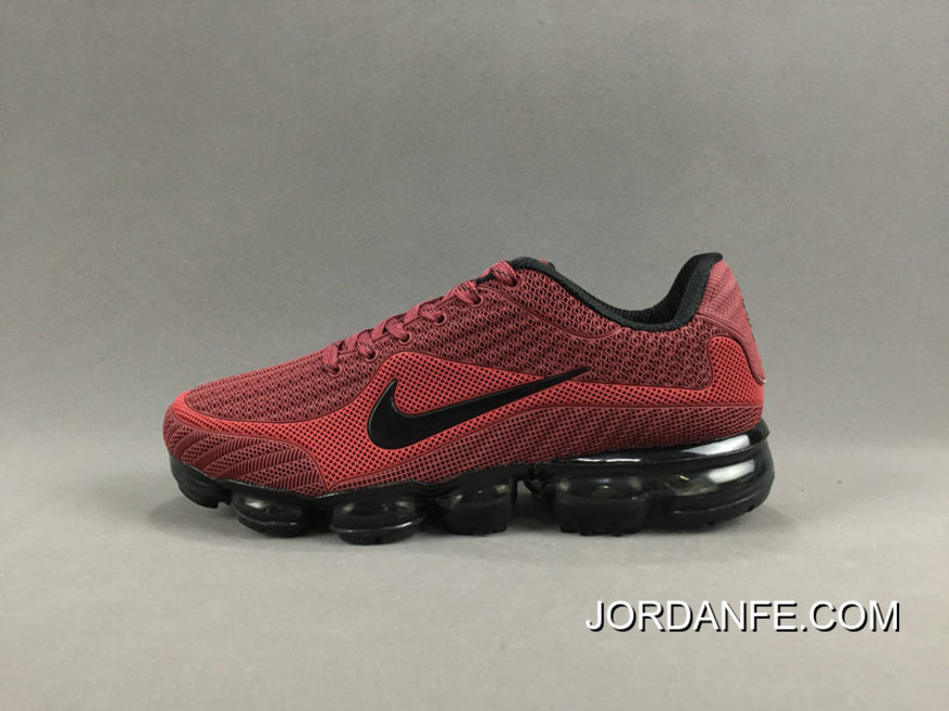 the latest fbc76 bc28b NIKE AIR VAPORMAX FLYKNIT 2018 Red Black New Style, Price: $80.27 ...
