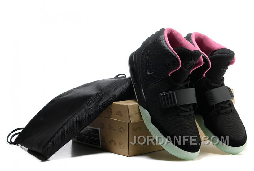 c0e6484a797 Nike Air Yeezy 2 Black Solar Red Glow In The Dark For Sale Free Shipping