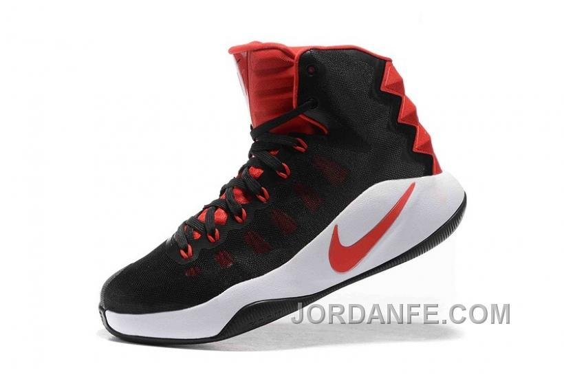 Nike Hyperdunk 2016 Black Red White Discount