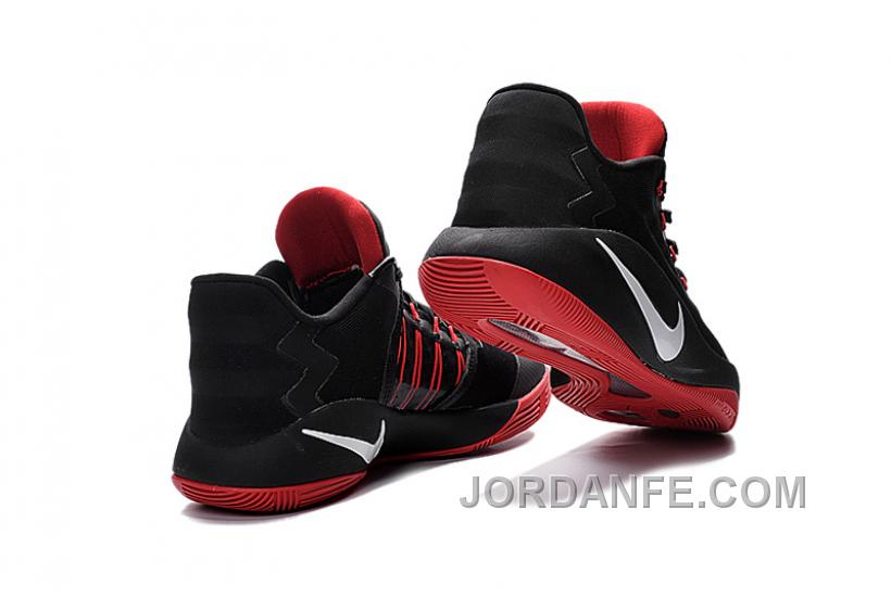 915009bc0378 Nike Hyperdunk 2016 Low Black Red White Super Deals