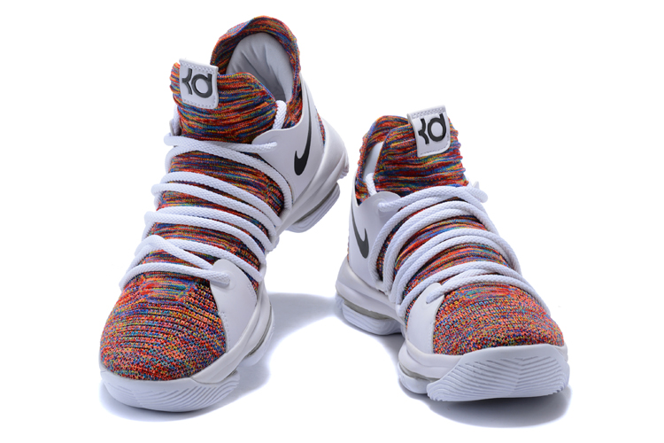 37b1553f27c Outlet Nike KD 10 White Multi-Color