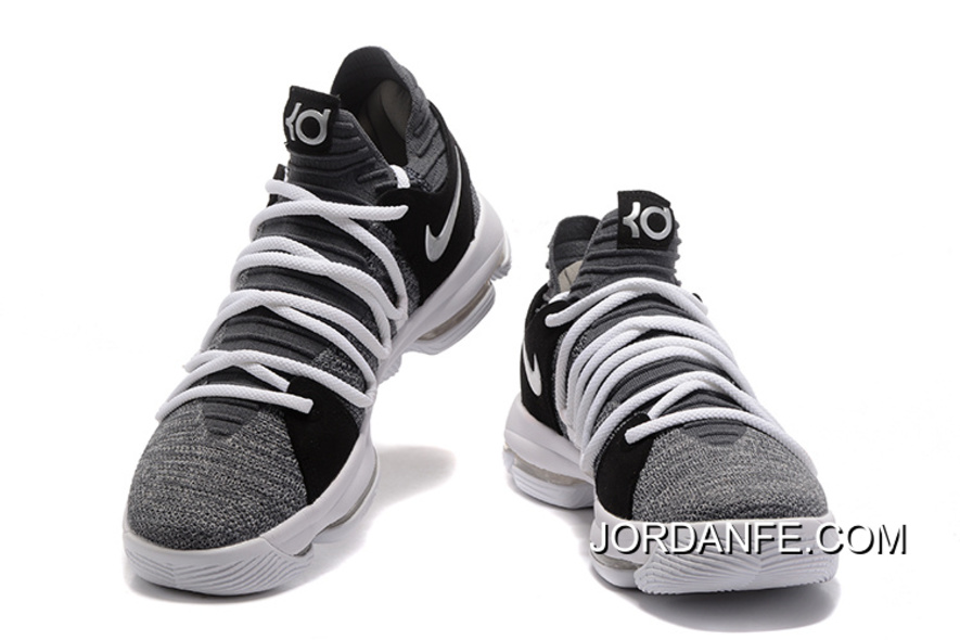 25a7014c0856 Nike KD 10 EP Cool Grey White Black For Sale