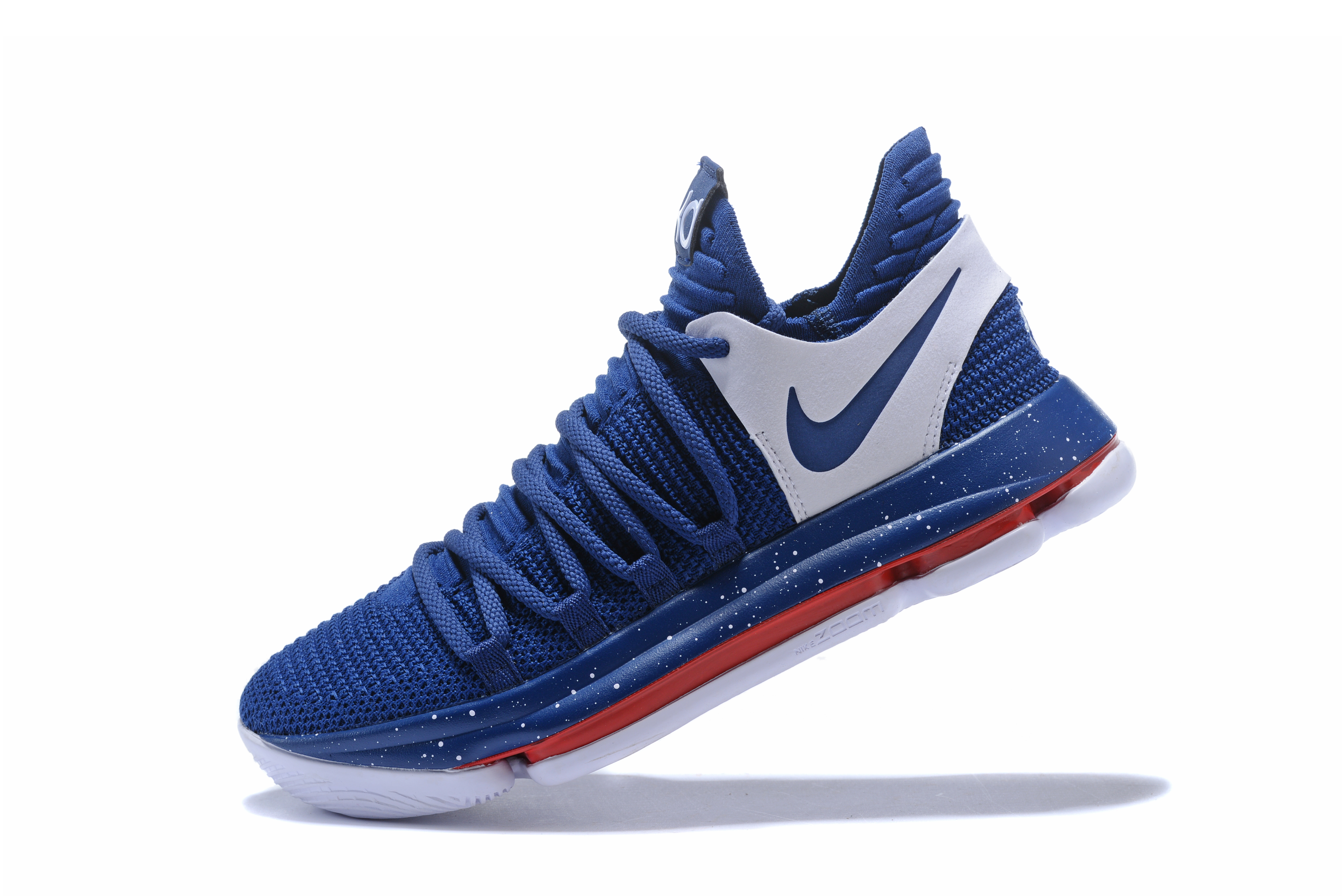 a83e952592f8 New Release Nike KD 10 Navy Blue White-Red