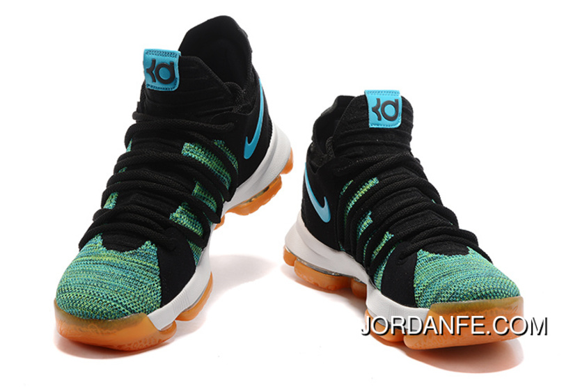d019a5f51d47 Cheap To Buy Nike KD 10 Green Black White Men Shoes Kevin Durant ...