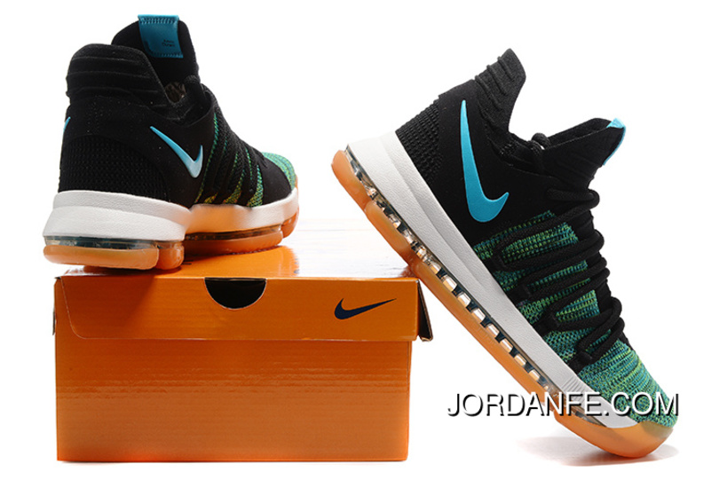 official photos f823a 3606e Cheap To Buy Nike KD 10 Green Black White Men Shoes Kevin Durant