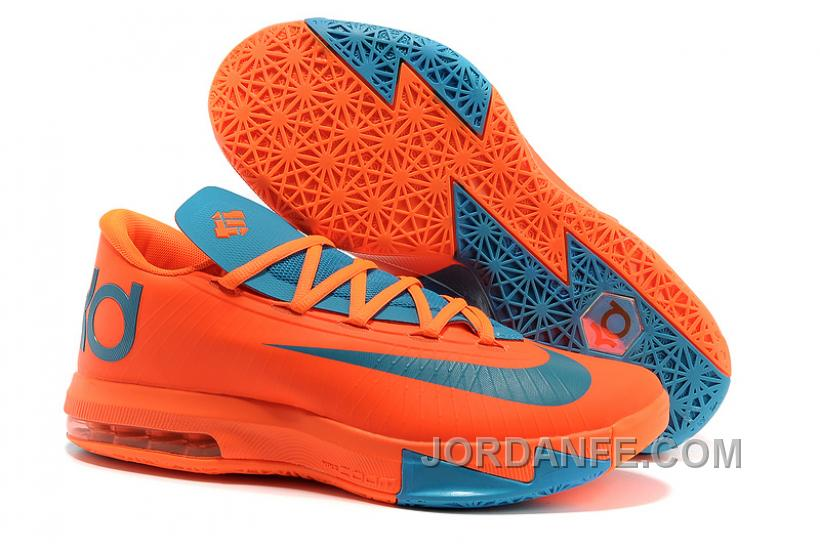 Nike Kevin Durant KD 6 VI Total Orange/Neo Turquoise For Sale New Release