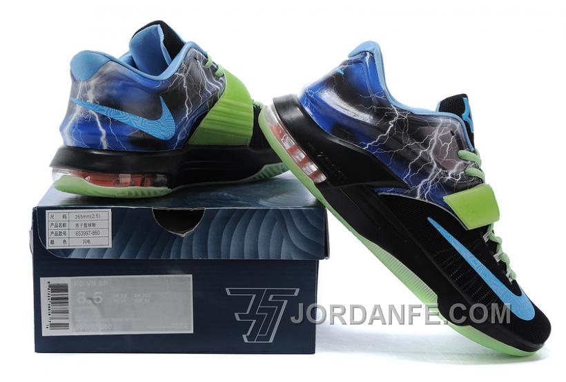 separation shoes 1fd0f aed69 Nike KD 7 Custom Lightning Green Top