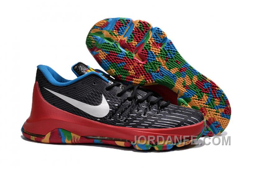 cheap for discount 53c08 6ca12 Nike KD 8 GS Black University Red Tour Yellow Top