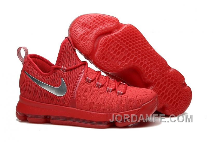 03d8ba23499 ... wholesale nike kevin durant kd 9 sport red silver basketball shoes 2016  for sale xmas deals