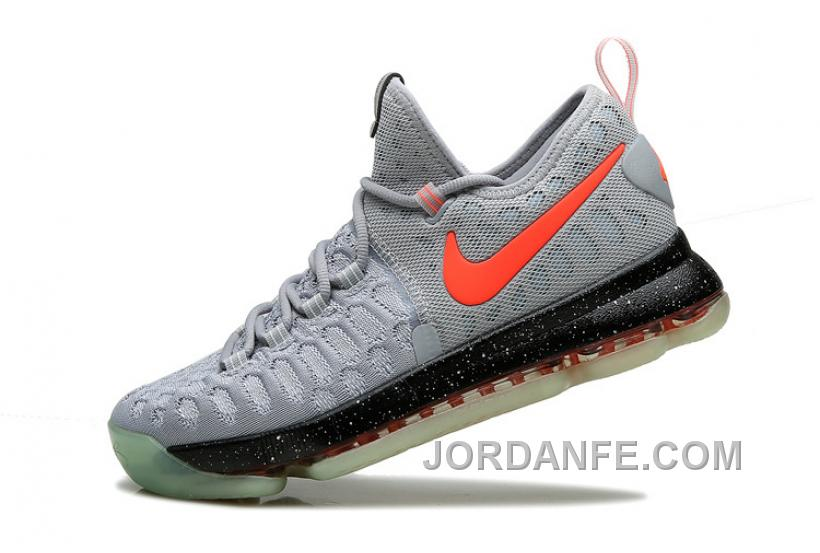 new concept 6eaba 4f51a Nike Kevin Durant KD 9 Limited Edition Gray Black Red Fluorescence 2016 For  Sale Super Deals