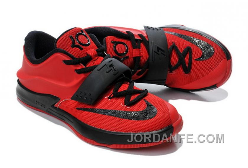 info for b34b7 aa0c8 Mens Kids Nike KD 7 (VII) Action Red Black Cheap New Release