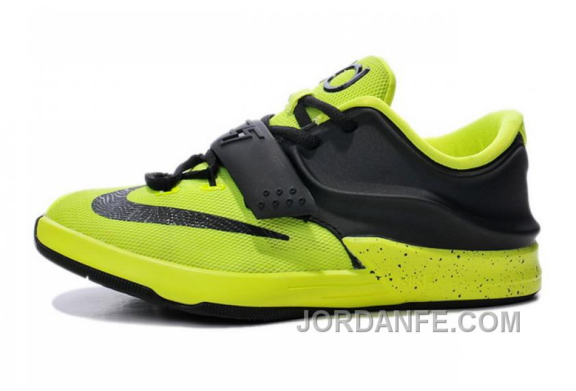 separation shoes 8e07c f0e79 Mens Kids Nike KD 7 (VII) Volt/Black New Style