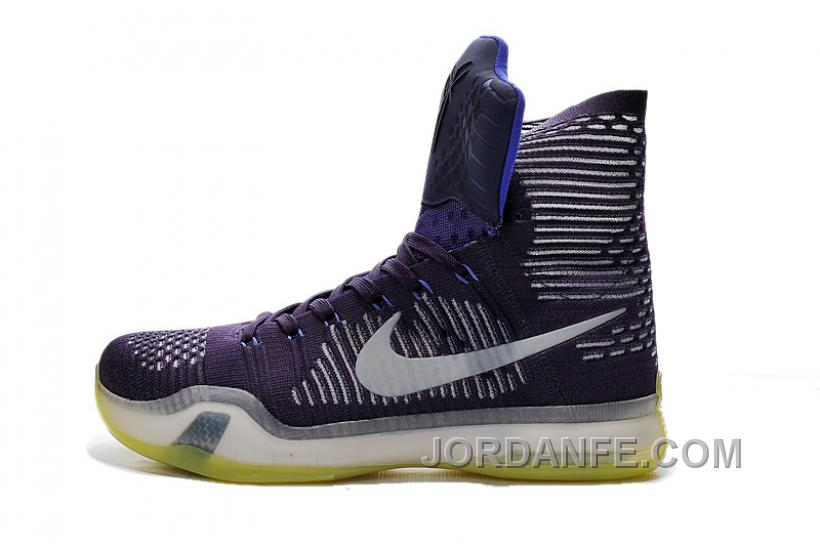 competitive price 1baa6 b4b48 Nike Kobe 10 High Top Elite Team Ink Persian Violet Volt Reflect New Release