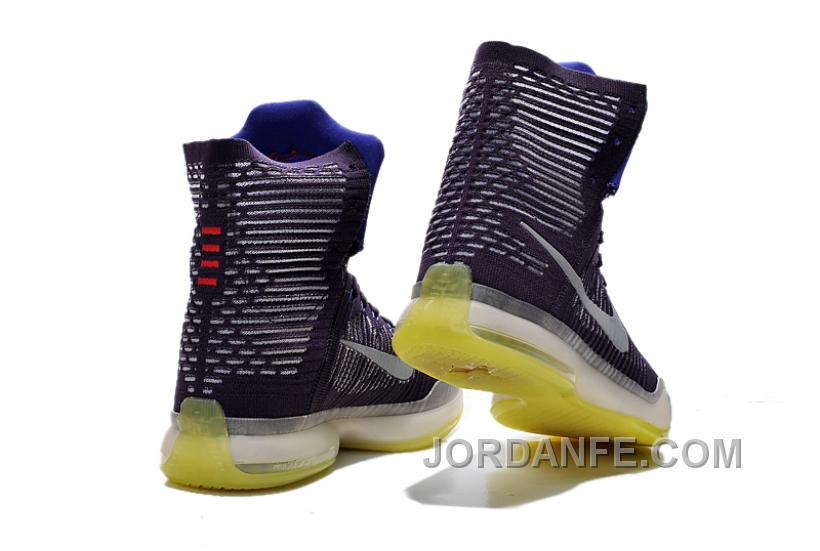 competitive price f3d34 87c4f Nike Kobe 10 High Top Elite Team Ink Persian Violet Volt Reflect New Release