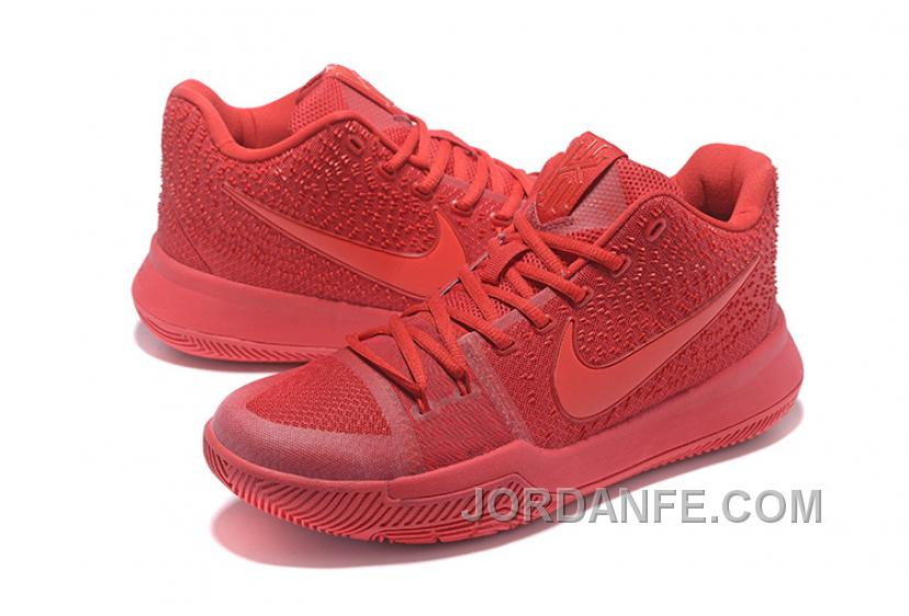 6c041d2f6b2 Nike Kyrie 3 Mens BasketBall Shoes All Red Top Deals BPiaw