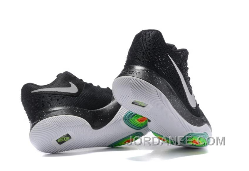 1e856fd5fbe Nike Kyrie 3 Mens BasketBall Shoes Black White Authentic DwjSh ...