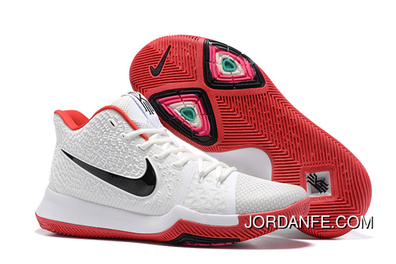 1b644ee51b90 Nike Kyrie 3 White Red Black Cheap To Buy