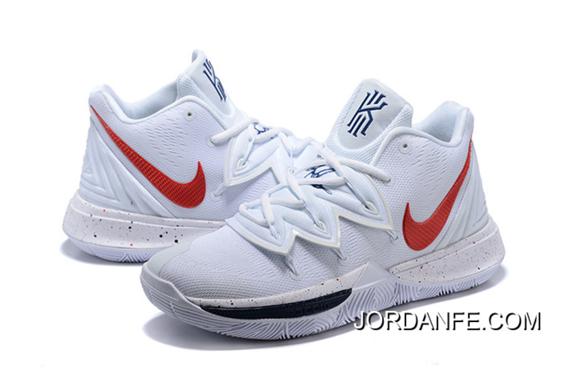 low priced 3d727 59d4f Top Deals Nike Kyrie 5 White Red-Navy Blue