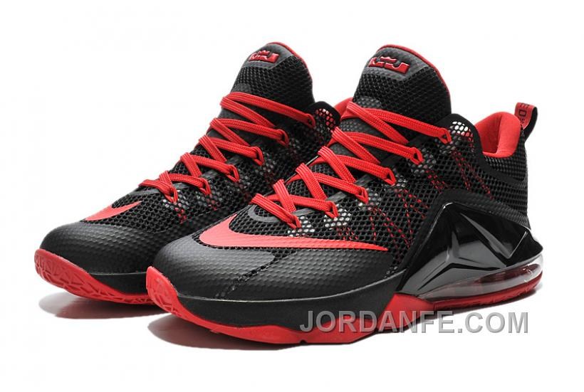 promo code 7e2c5 df8e2 Nike Lebron 12 Low Black And Red New Release