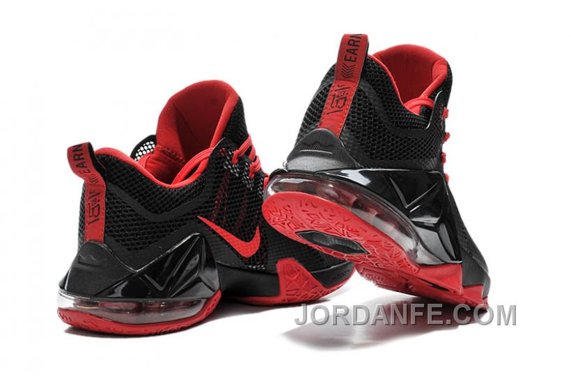 478b968d1f642 Nike Lebron 12 Low Black And Red New Release