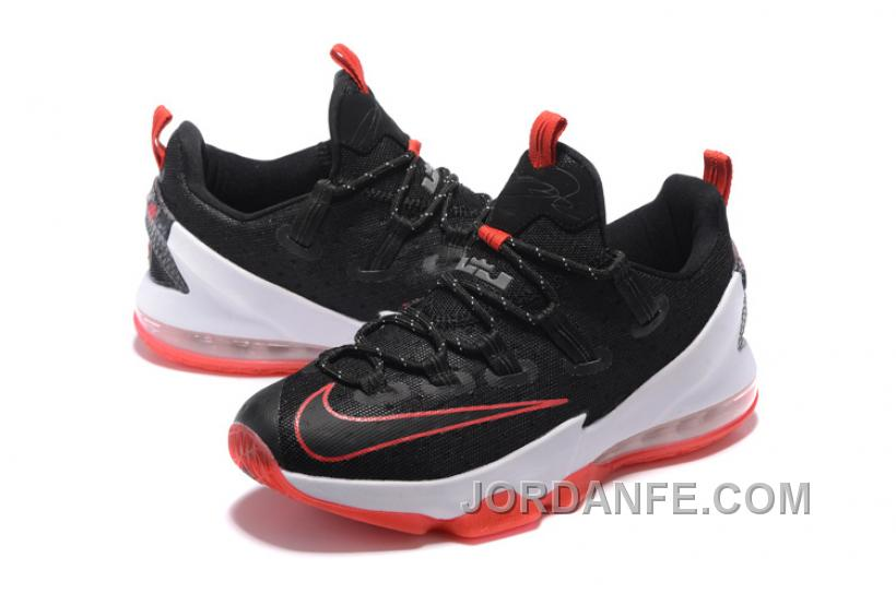 "288b9d0974cd 2016 Nike LeBron 13 Low ""Bred"" Black University Red-White For Sale ..."