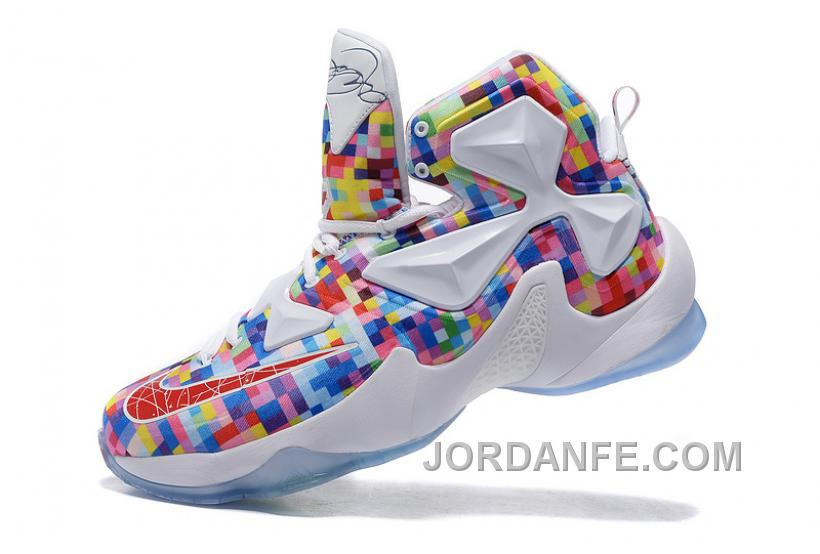 buy online 0543d ee12a Nike Lebron 13 Colorful Gorgeous White 2016 Hot