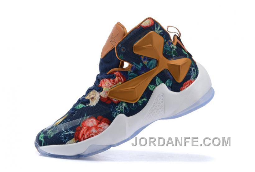 b1885679eba4 Nike LeBron 13 Grade School Shoes Floral New Release