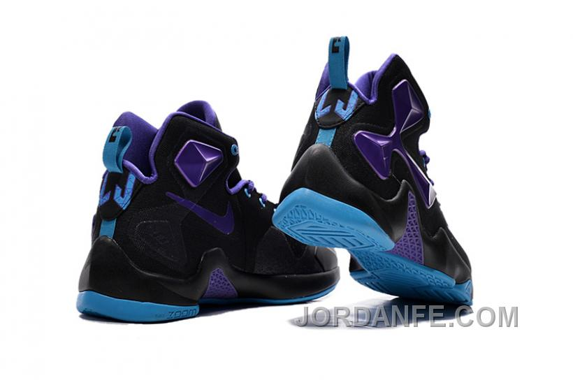 1ab93a6fc03 Nike LeBron 13 Black Purple Grade School Shoe Authentic