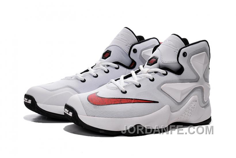 0916fc8dc885 Nike LeBron 13 White Red Grade School Shoes Hot