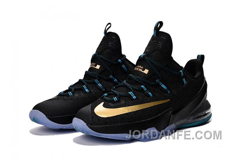new style b7205 39383 Nike Lebron 13 Low Black Gold For Sale