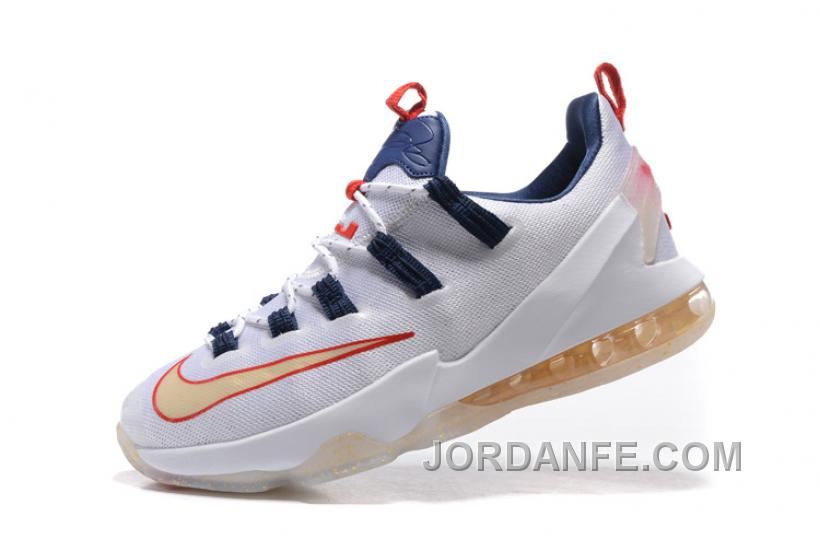 superior quality 56f93 44565 Nike Lebron 13 Low White Golden Brown Discount
