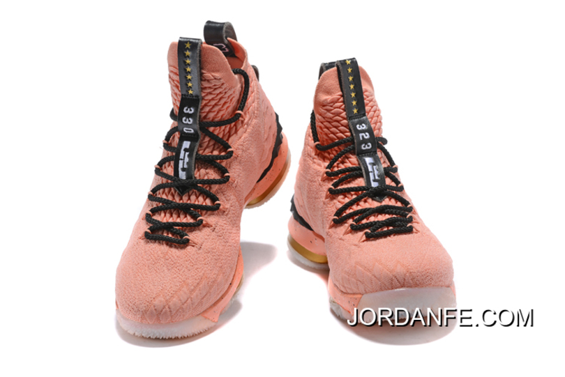 "8ca658f3032 Latest Men s Nike LeBron 15 Hollywood ""All-Star"" Rust Pink Metallic Gold"