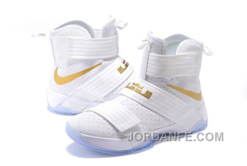 arrives c0146 0448b Nike Lebron Soldier 10 White Gold For Sale