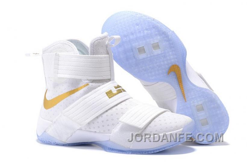 fda87d21aa0254 Nike Lebron Soldier 10 White Gold For Sale