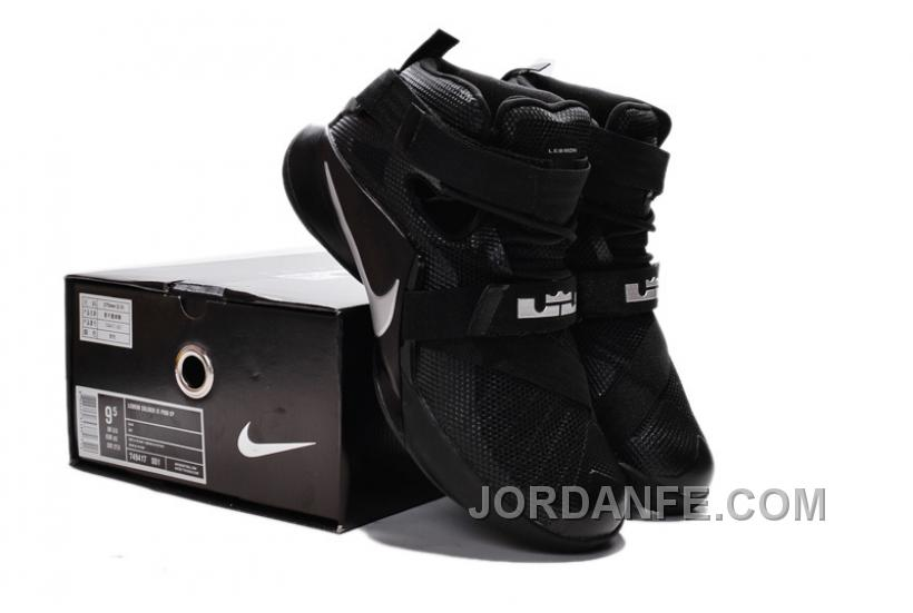 "780d0af7cdca Nike LeBron Soldier 9 ""Blackout"" All Black Basketball Shoe New Arrival"