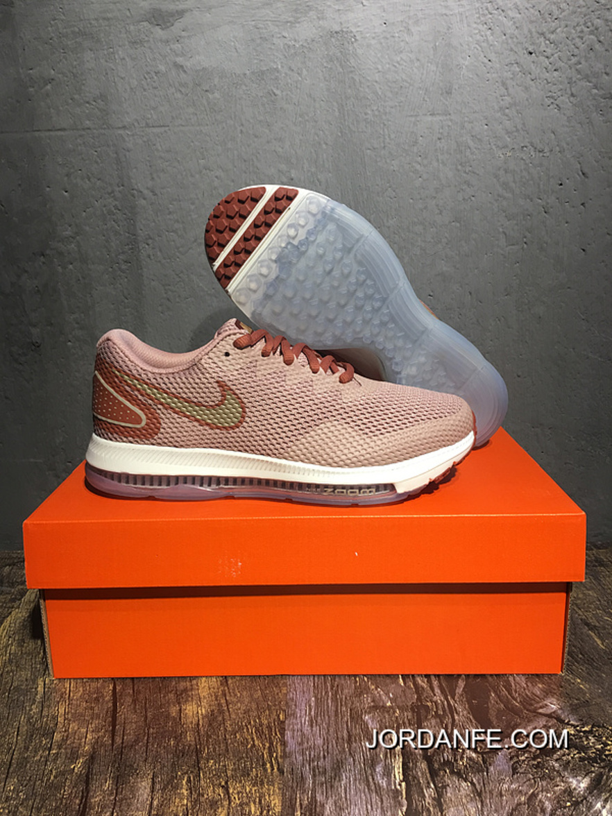 best service 06c09 d36c8 Nike Zoom All Out Low 2.0 Filaments Zoom Air Cushioning Running Shoes Grey  Pink Red Bronze