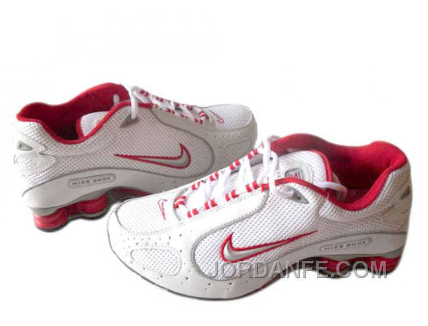 huge discount 5d7e7 4c3cc Men's Nike Shox Monster Shoes White/Red/Grey Super Deals