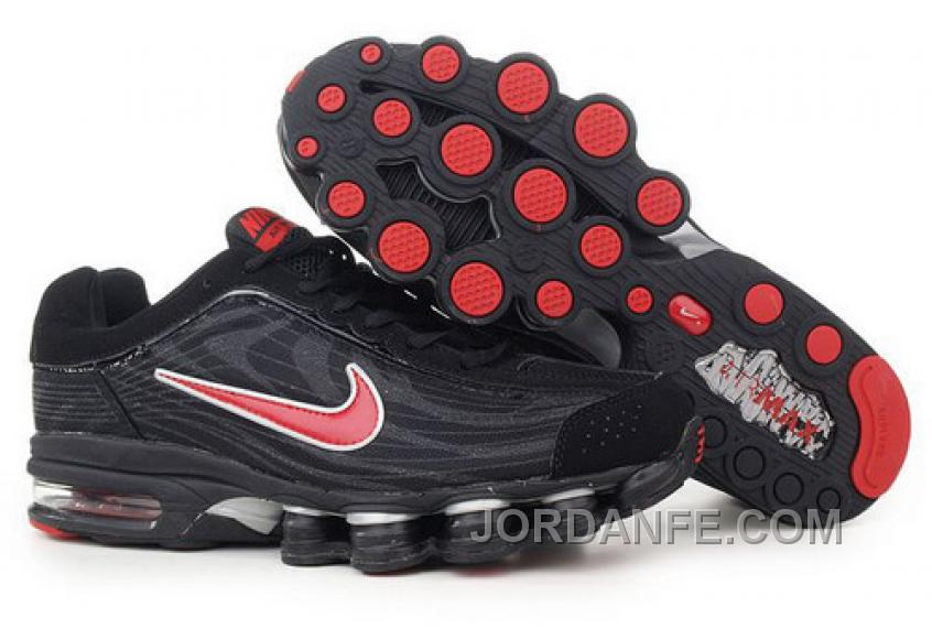 finest selection top design website for discount Men's Nike Air Max Shox R4 Shoes Black/Red Authentic, Price ...