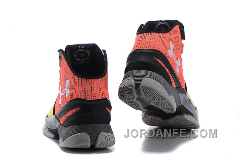 """45a99908dad5 Under Armour Curry 2 """"I Can Do All Things"""" Black Yellow Red Shoes ..."""