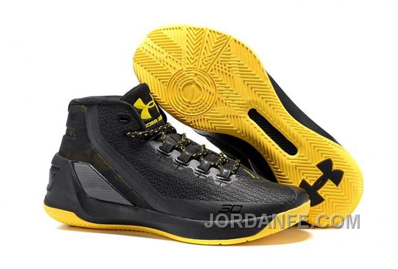 info for b92c0 12f12 Under Armour Stephen Curry 3 Shoes Black Yellow New Arrival
