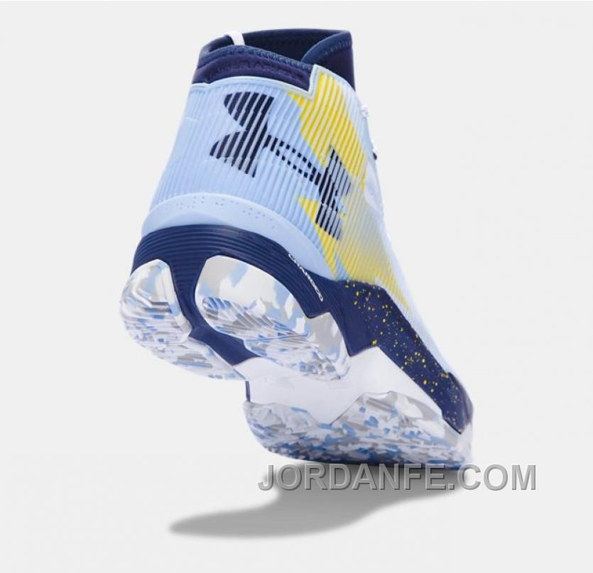 half off 5314f 61a38 Best Under Armour Curry 2.5 White Blue Yellow Men Basketball Shoes New  Release