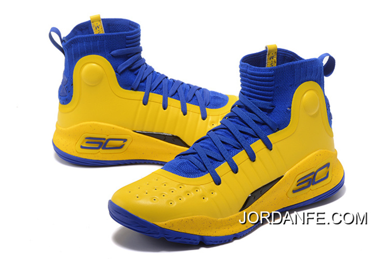 1c82490c584ee Under Armour Curry 4 Basketball Shoes Yellow Blue Lastest