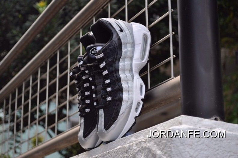 Best Sell Nike Wmns Air Max 95 QS Metallic Platinum Black White 814914 001 Men's Casual Trainers Running Shoes 814914 001