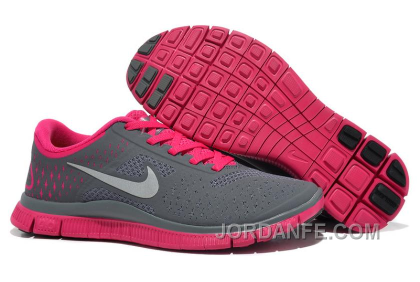 d87da24fd3f96 Women Nike Free 4.0 V2 Running Shoes Grey Pink Cheap To Buy