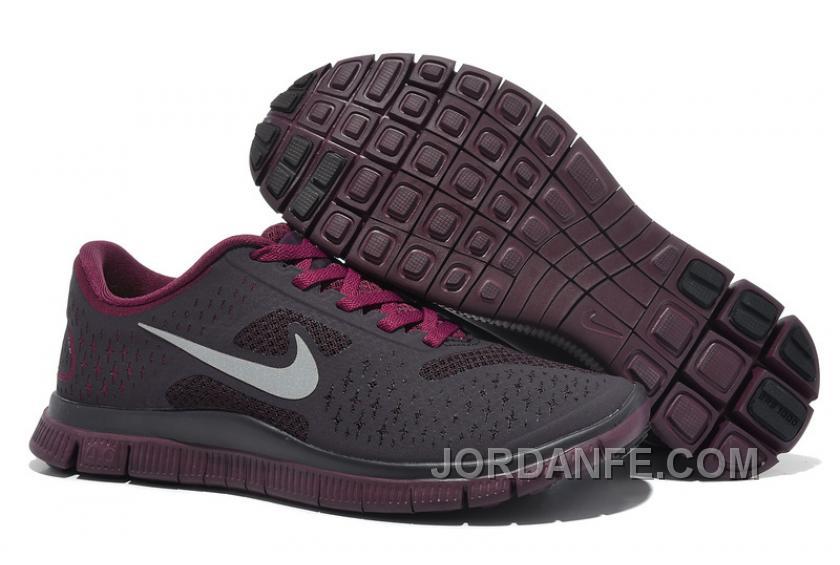 pretty nice dff6c 5e2ec Womens Nike Free 4.0 V2 Running Shoes Dark Grey Purple Red Discount, Price    77.66 - Air Jordan Shoes, Michael Jordan Shoes, Jordan Shoes Online