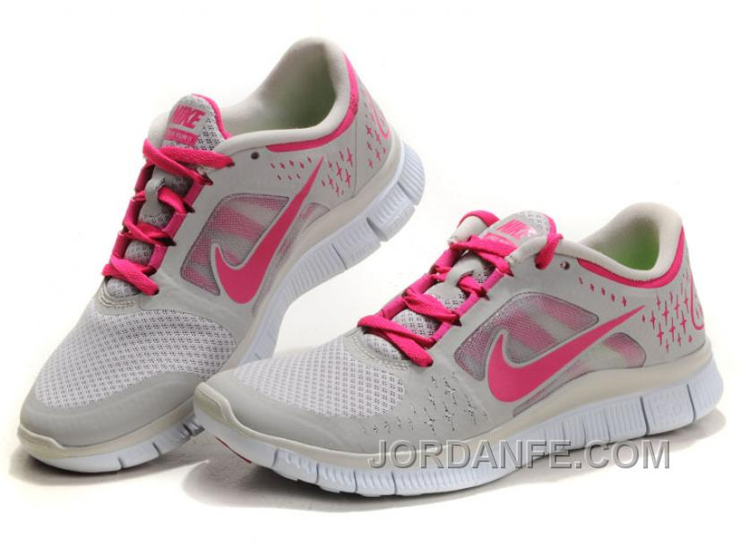 the latest 80ec1 8ae5f Nike Free Run 3 Light Grey Pink For Sale